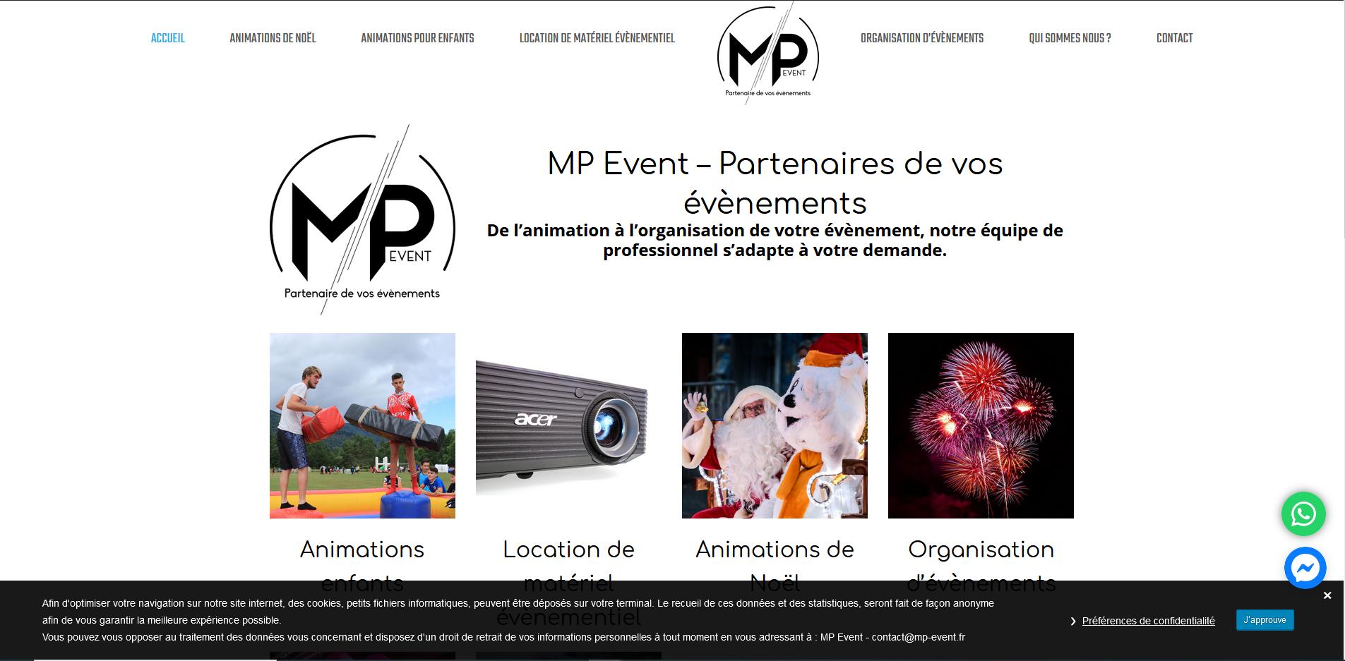 Création du site internet mp-event.fr